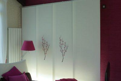 panel japones bordado salon