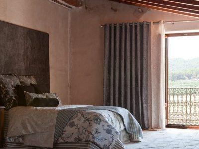 visillo y cortina con barra y confeccion ollados
