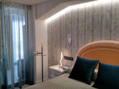 cortina confeccionada con onda perfecta