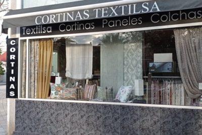 Exterior de tienda de cortinas Textilsa